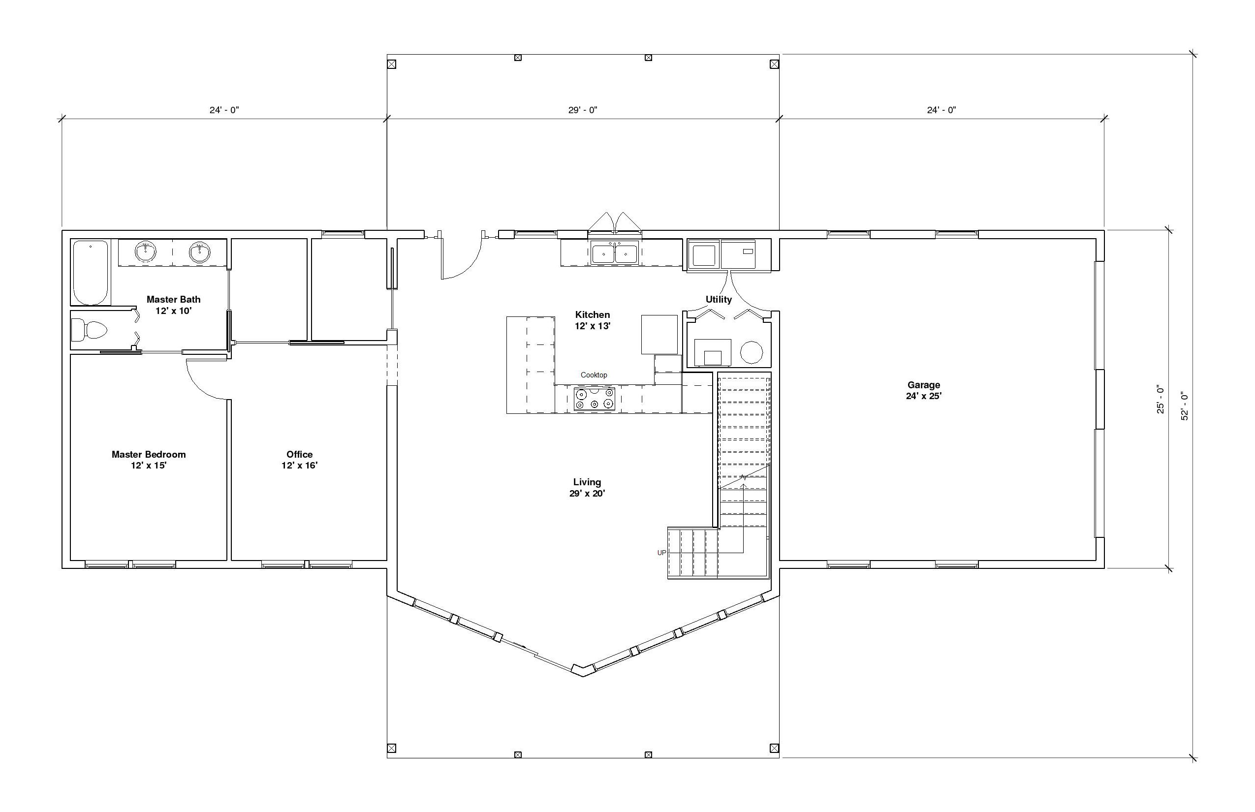 Aspen 2A 1st Floor plan