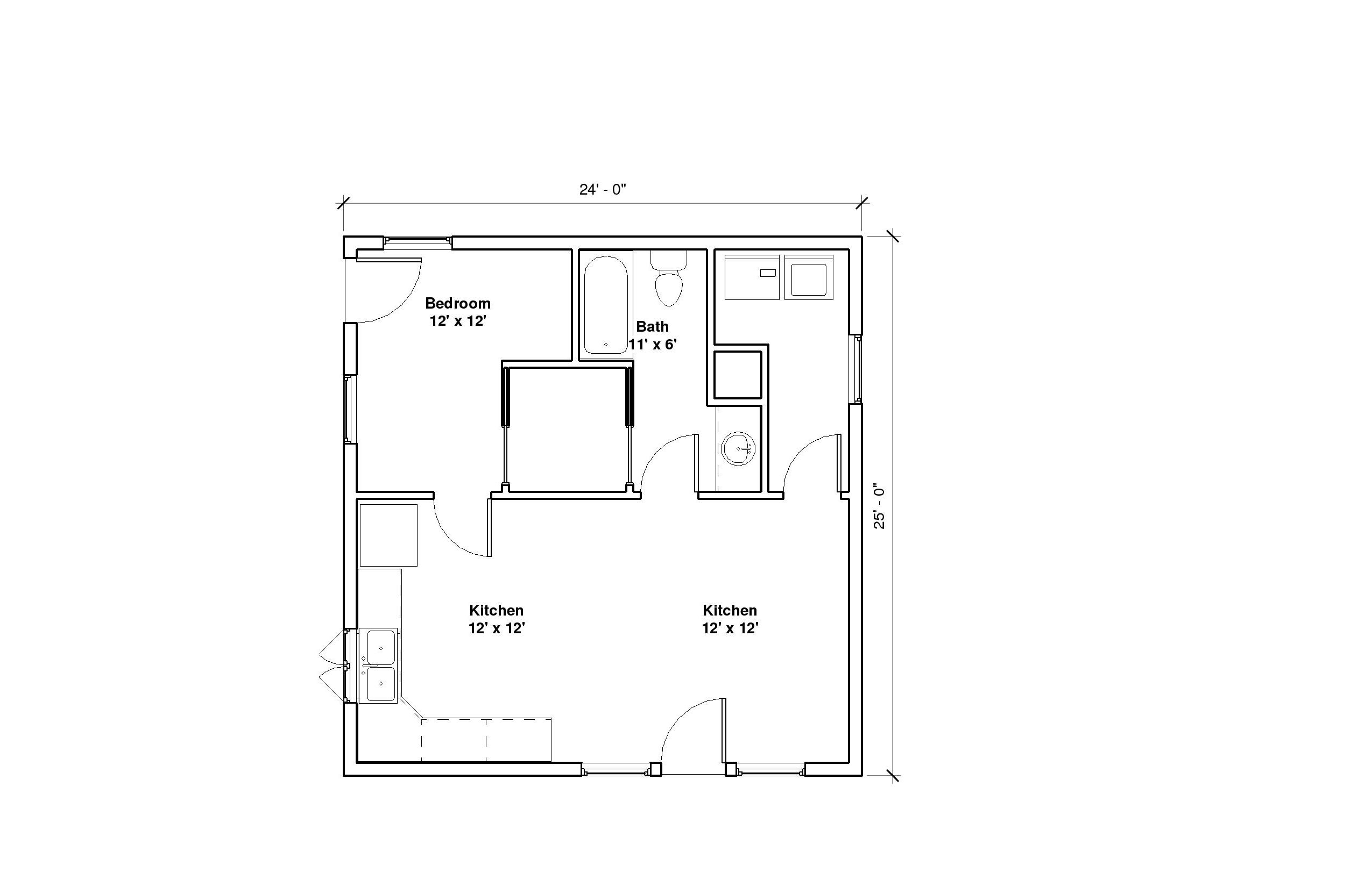 Bungalow A Plan floor plan