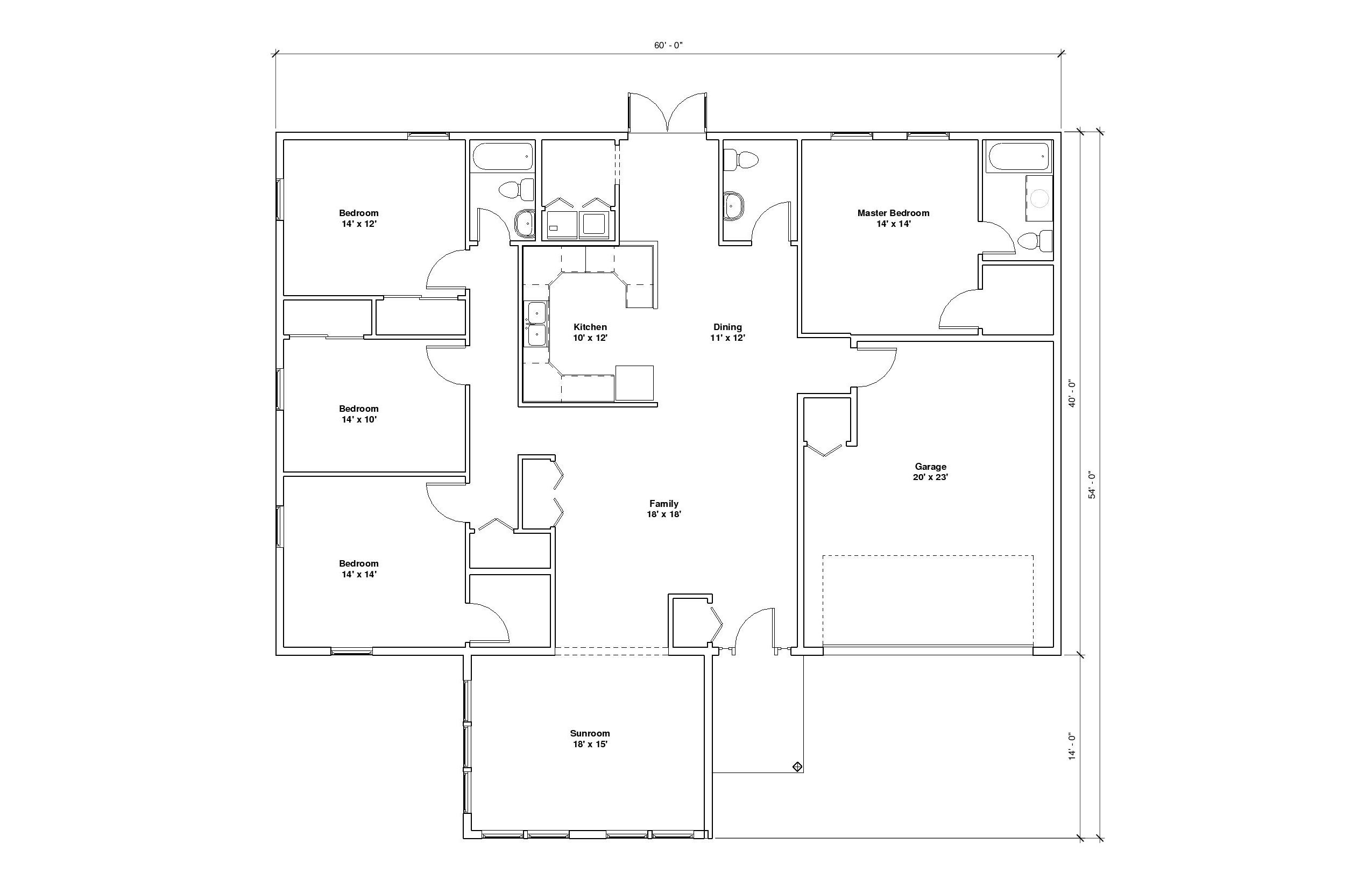 Chenal 1A floor plan