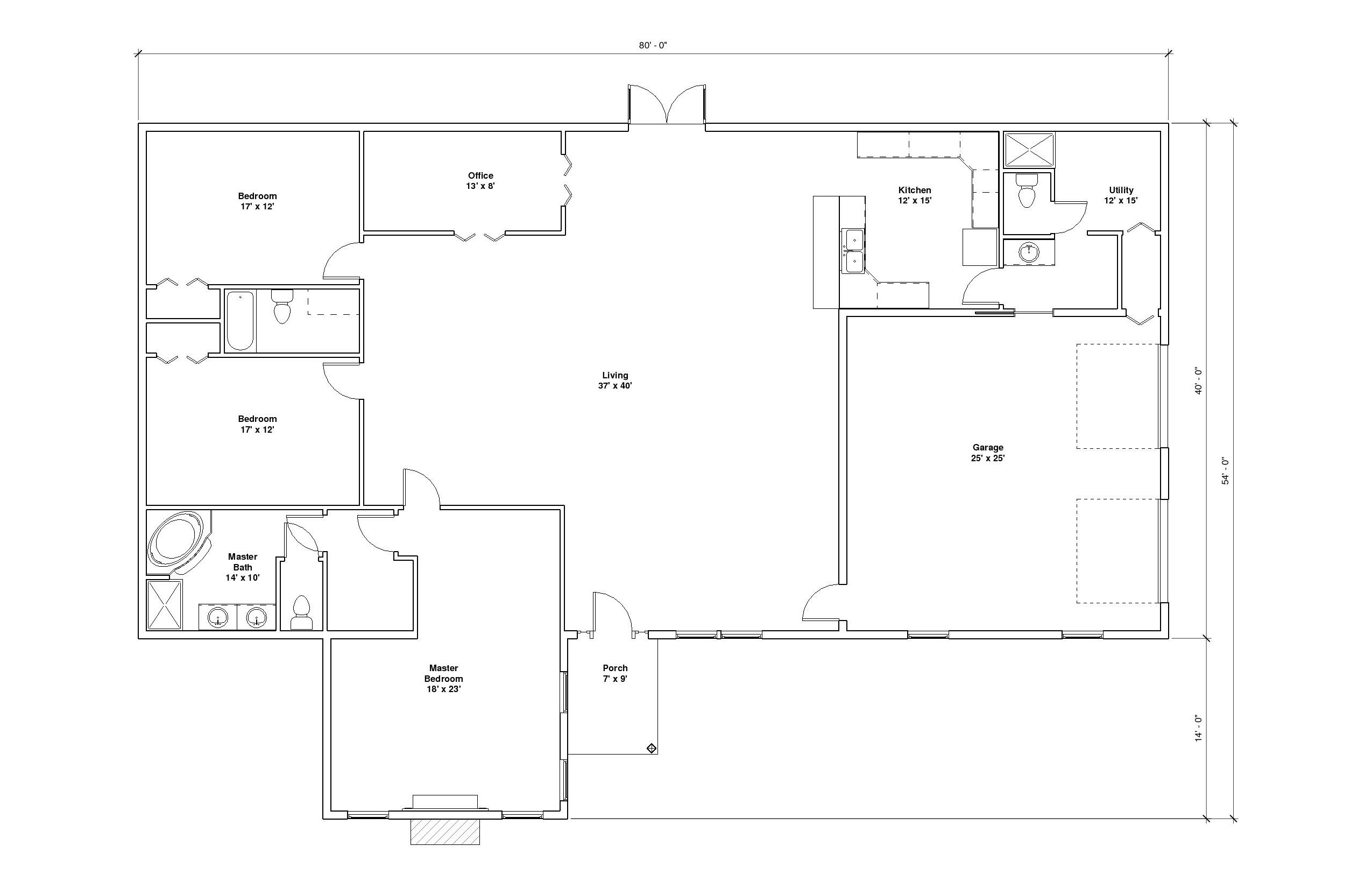 Chenal 2A floor plan