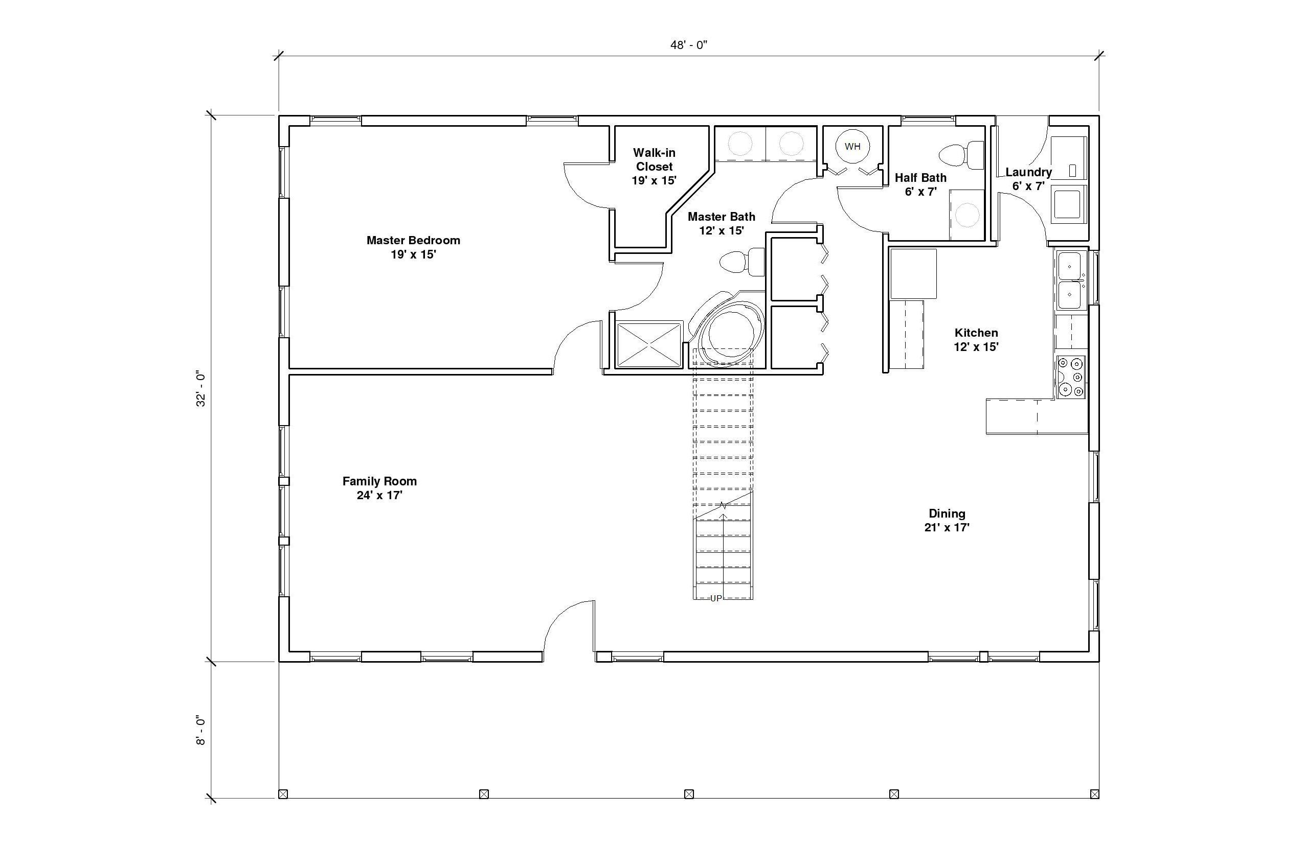 Crestwood 1A 1st Floor Plan