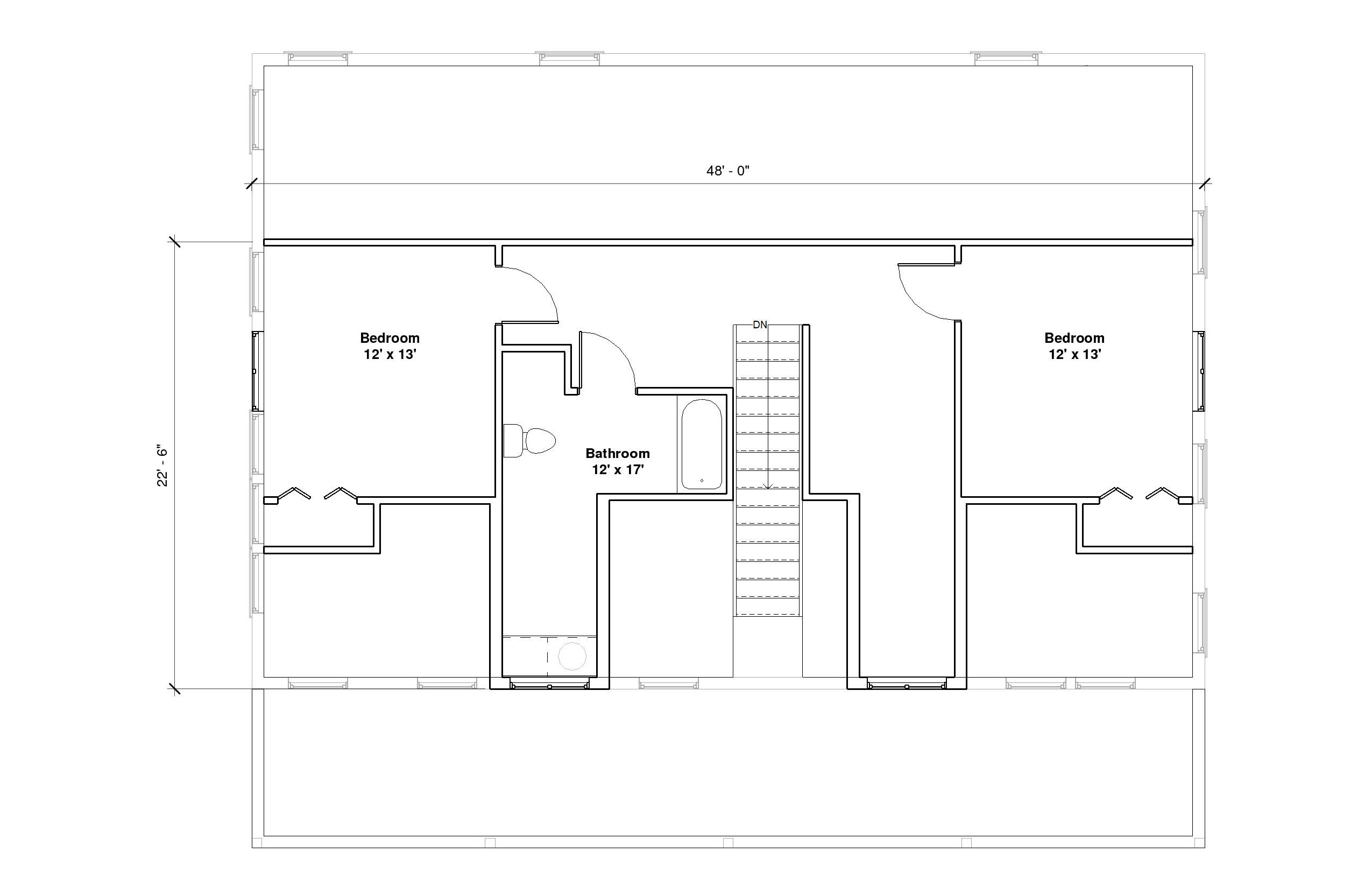 Crestwood 1A 2nd Floor Plan