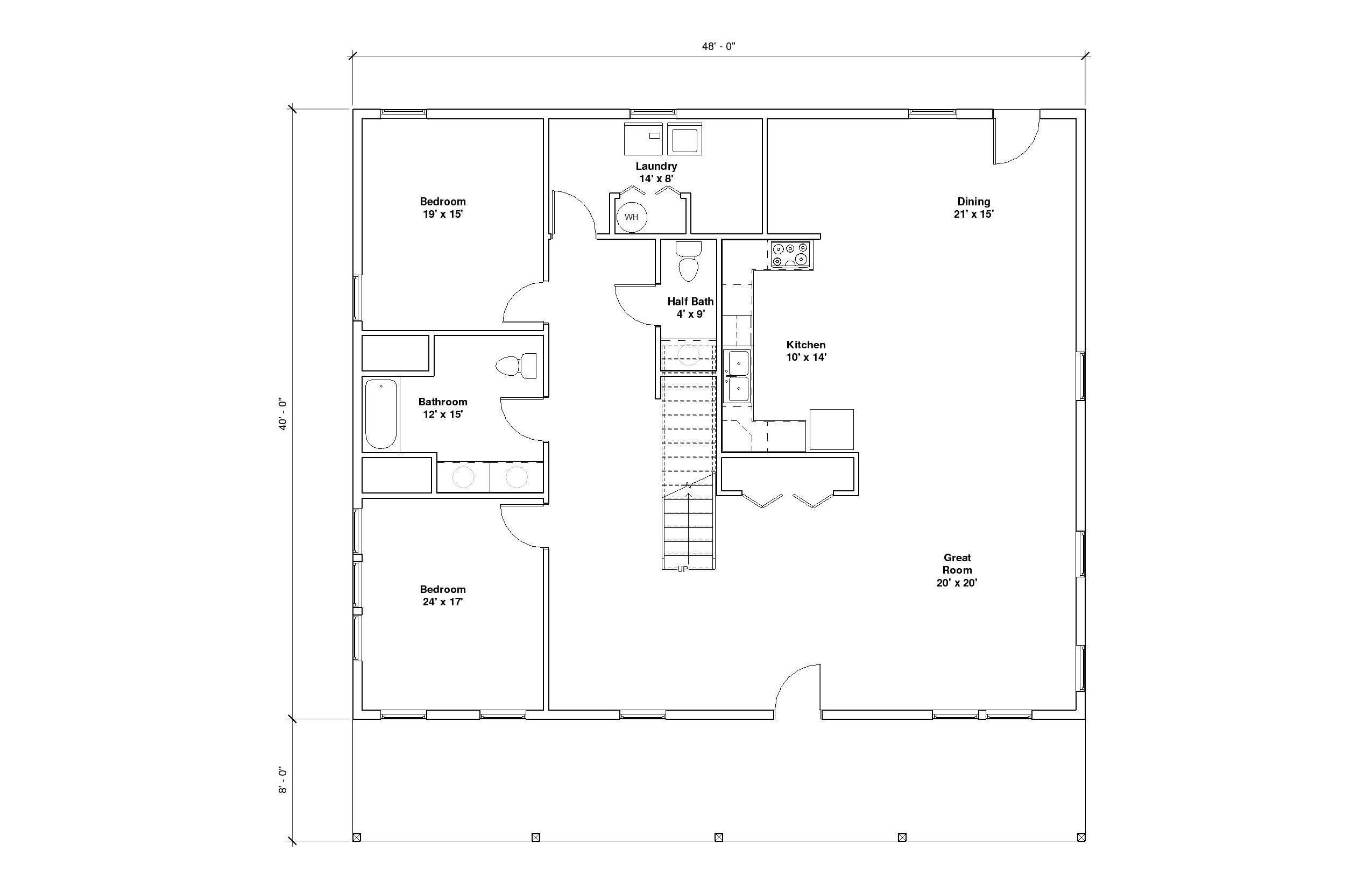 Crestwood 3A 1st Floor Plan