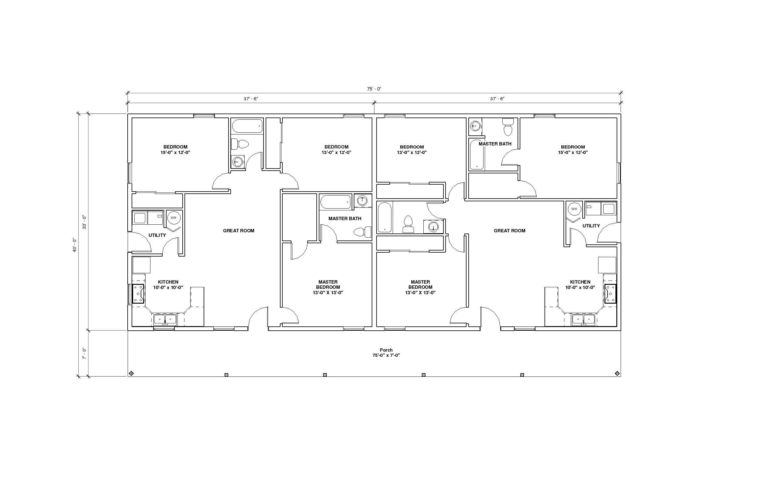 Duplex A Floor Plan