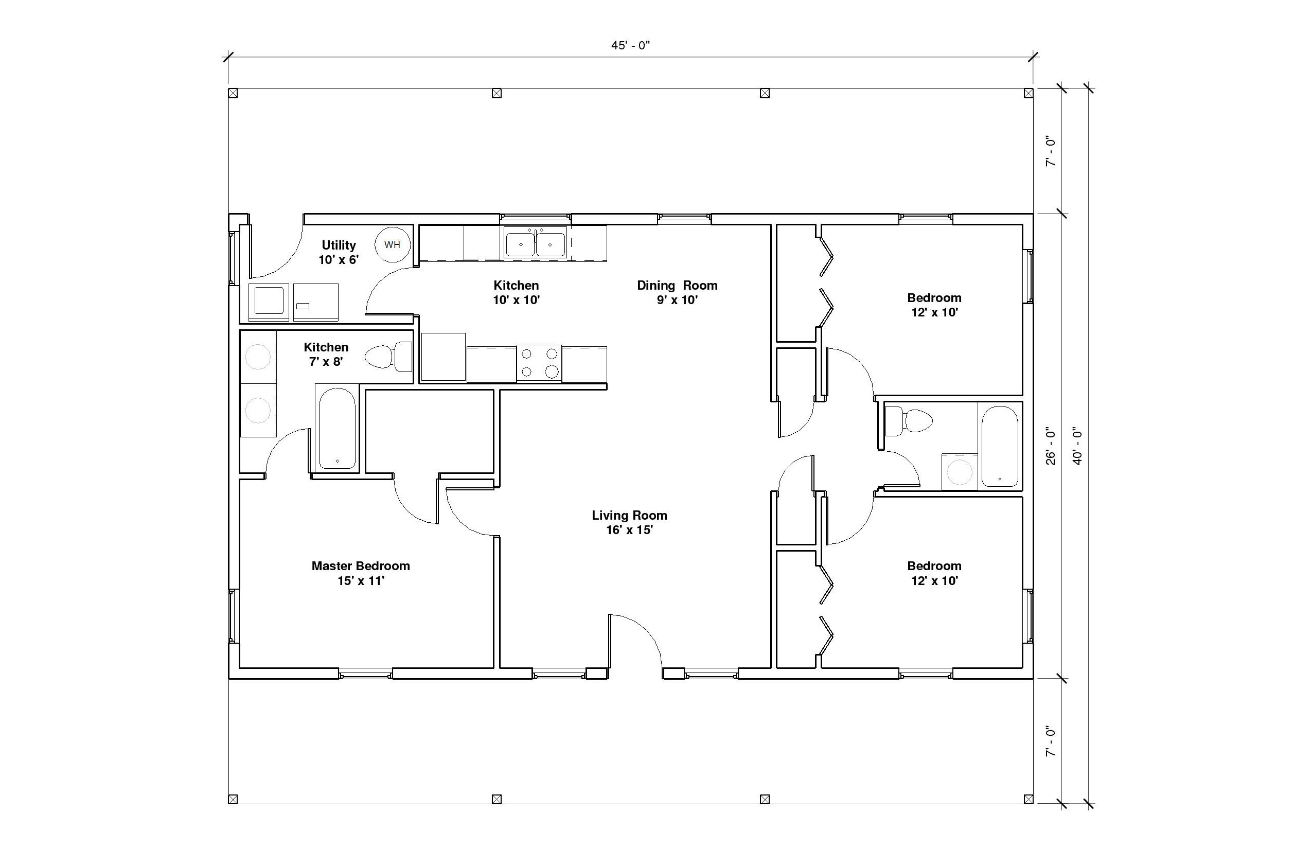 Hillcrest 1A Floor Plan