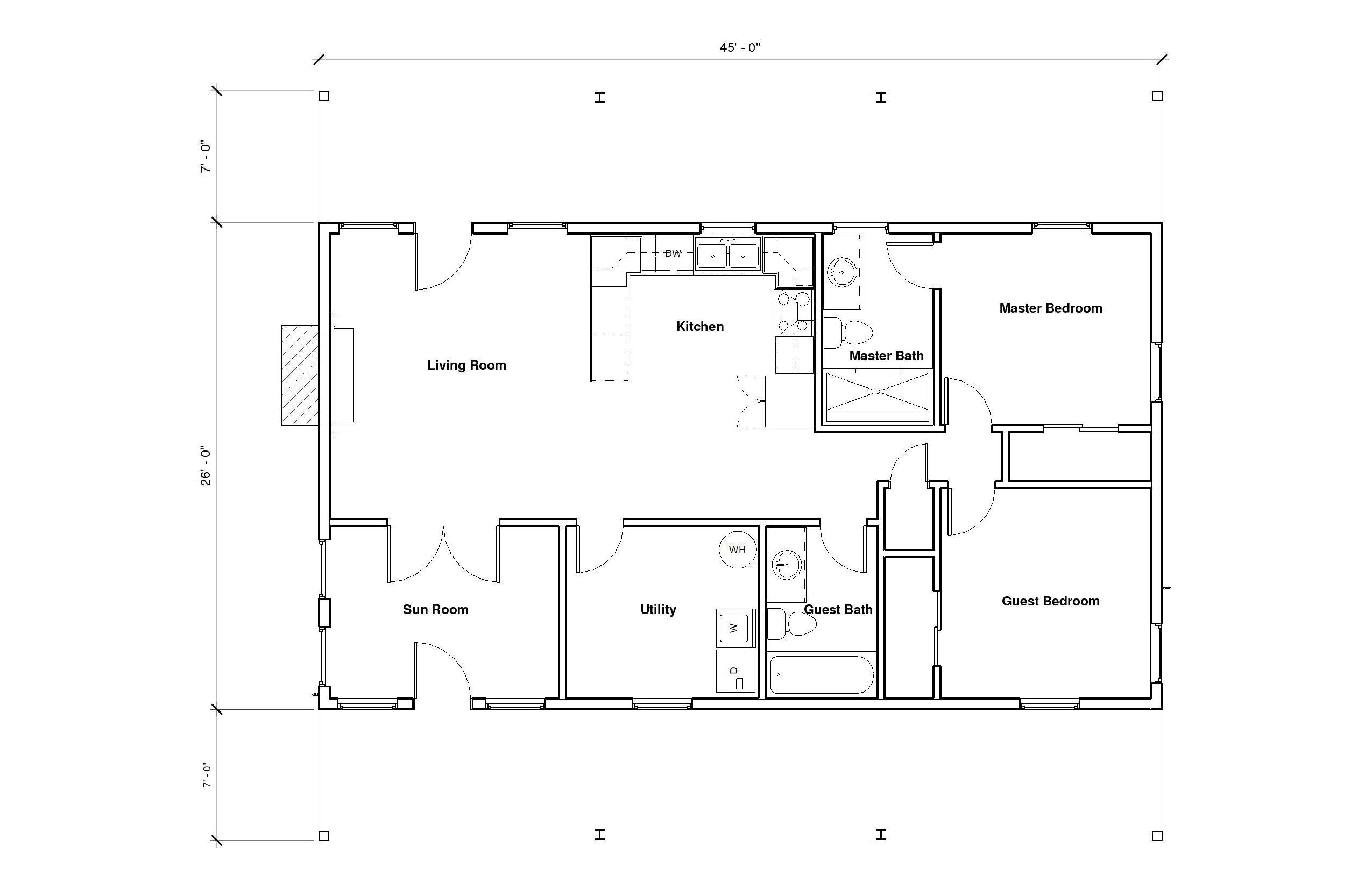 Hillcrest 1B Floor Plan