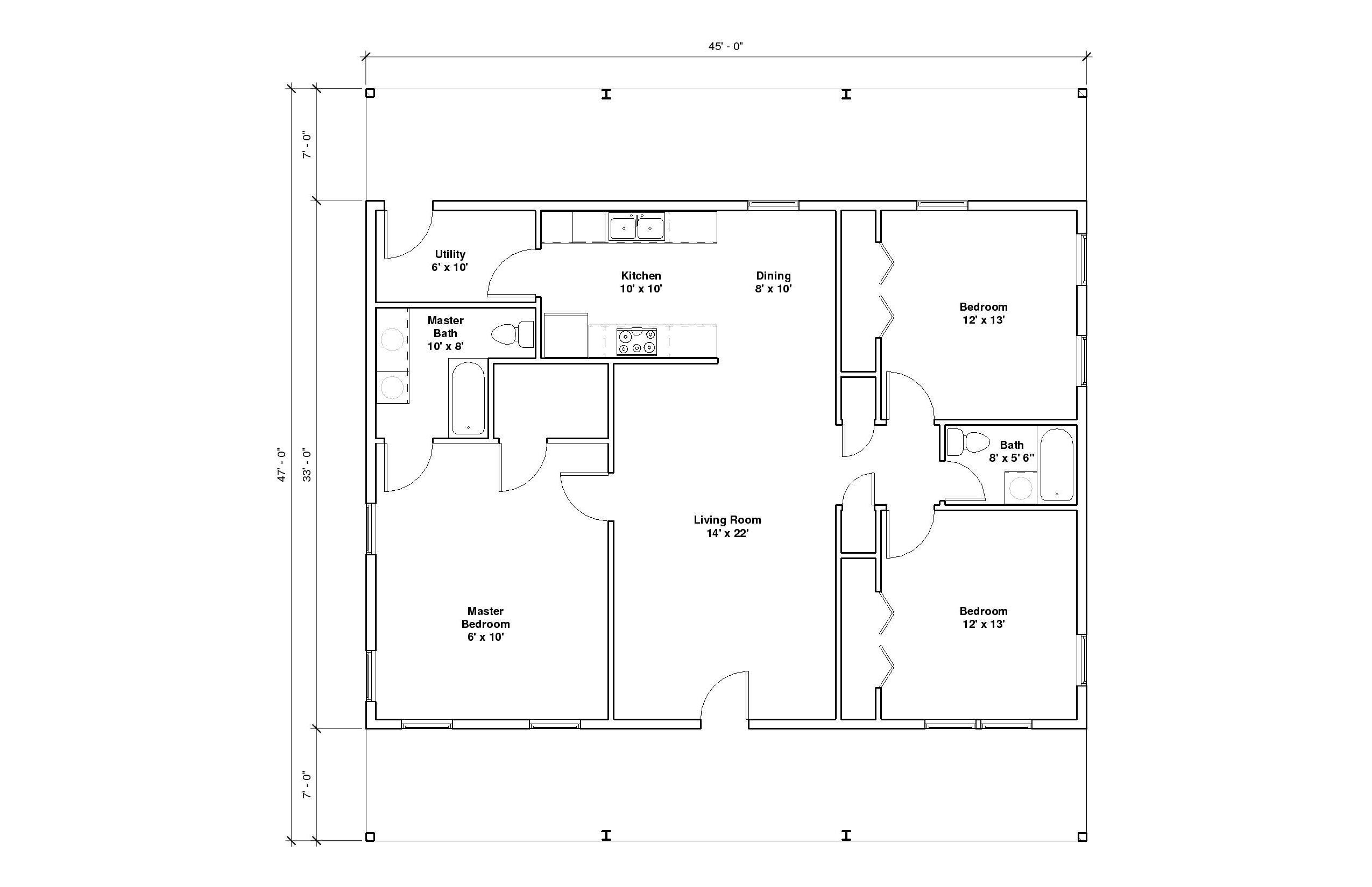 Hillcrest 3A Floor Plan