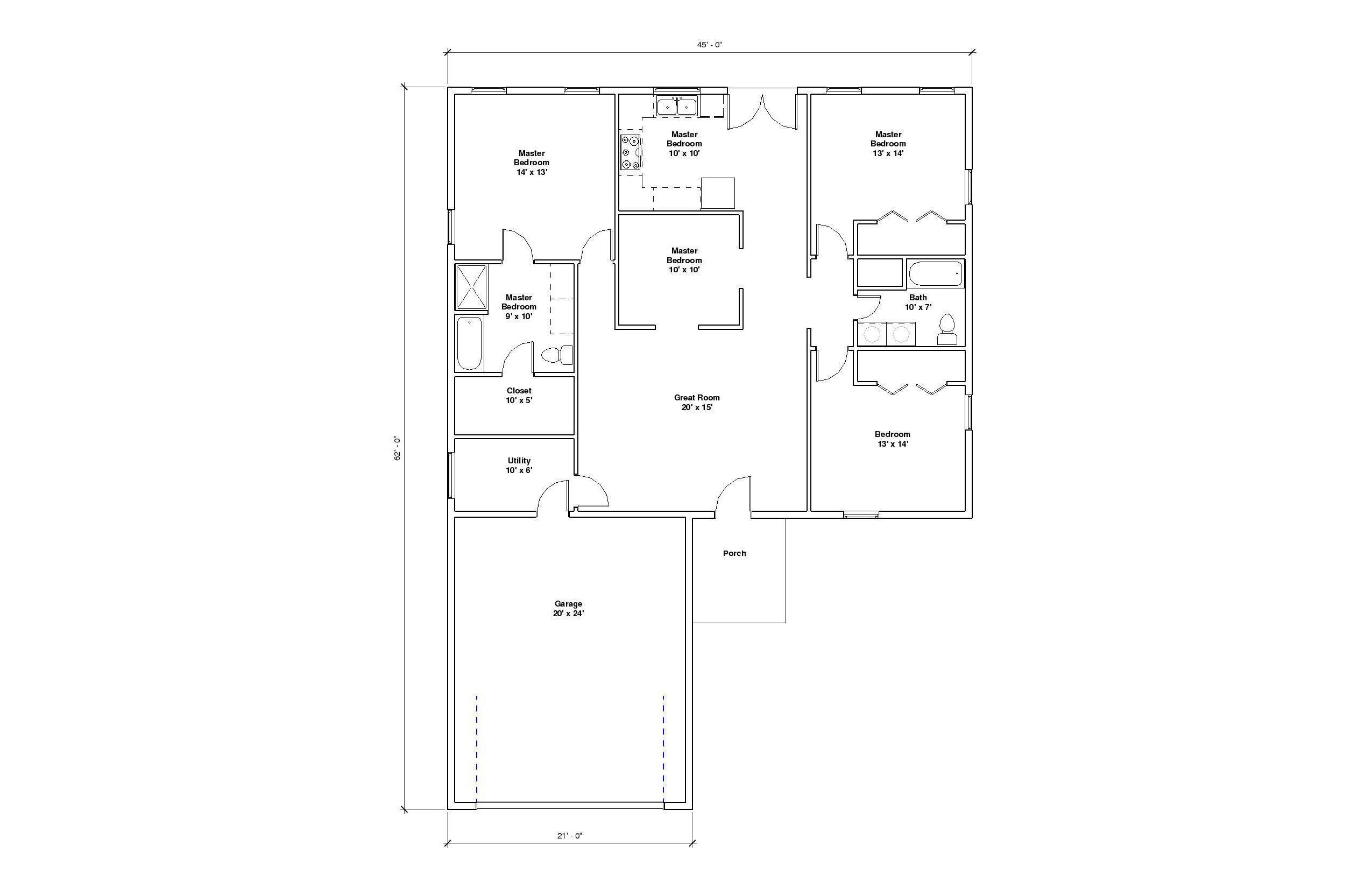 Kavenaugh 1A FLoor Plan