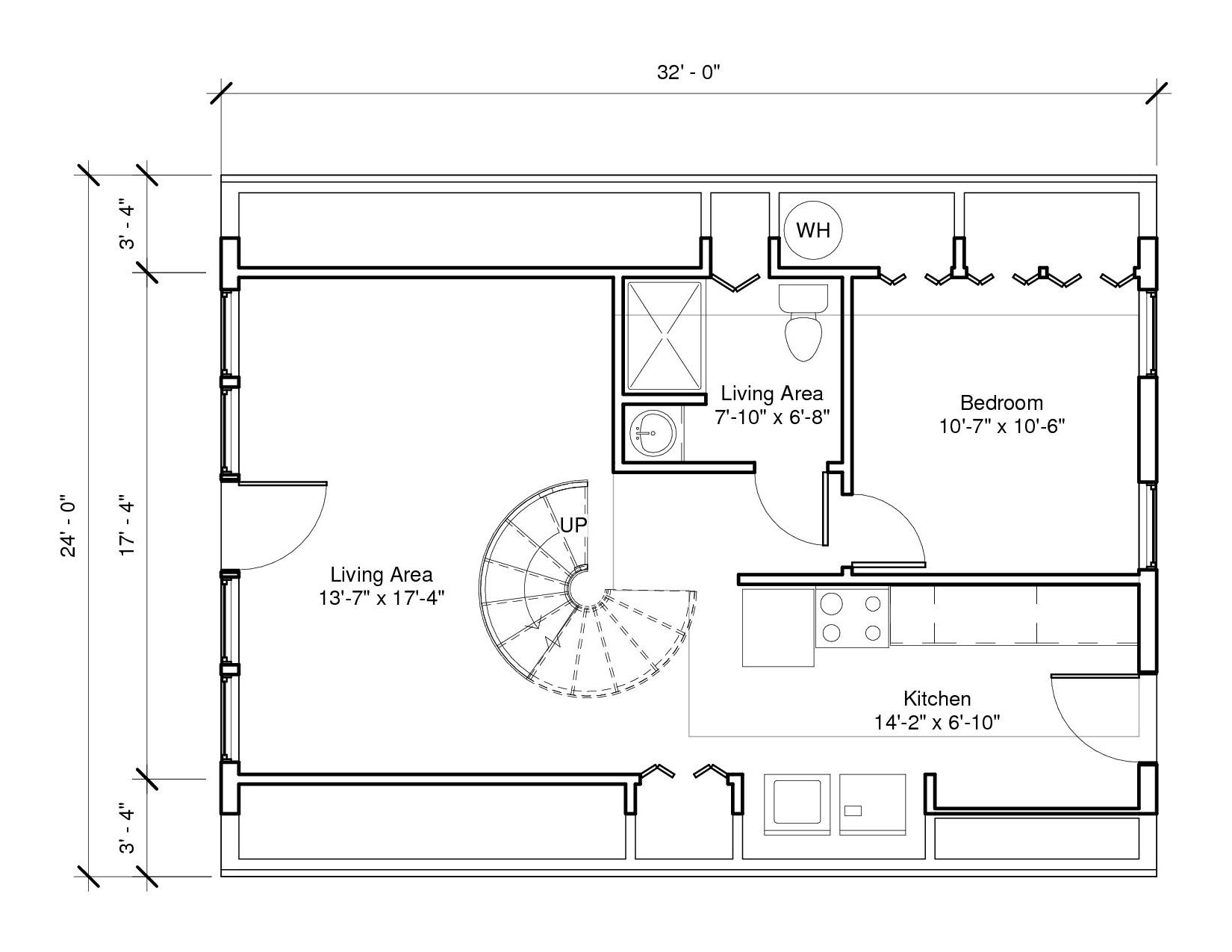 Lakeside 1A 1st Floor Plan