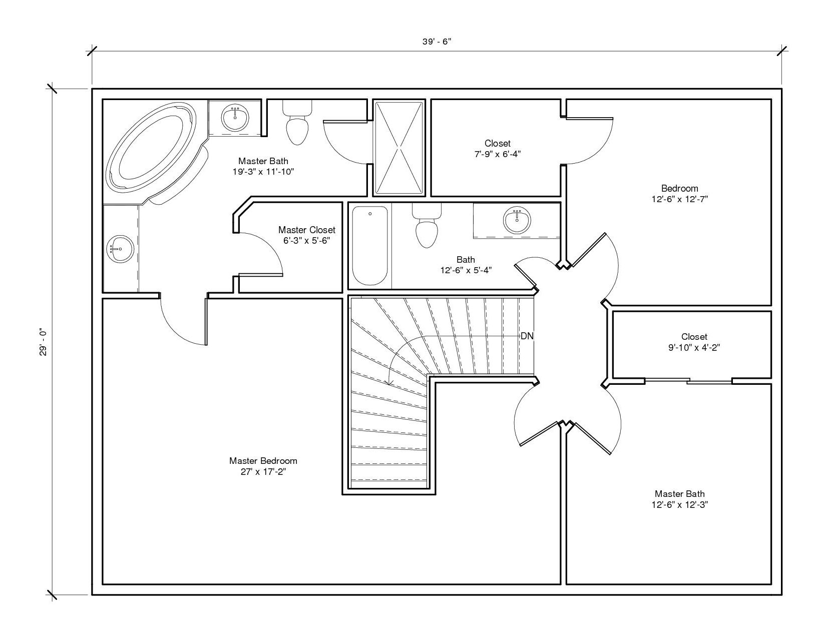 Leabrook1A 2nd Floor Plan