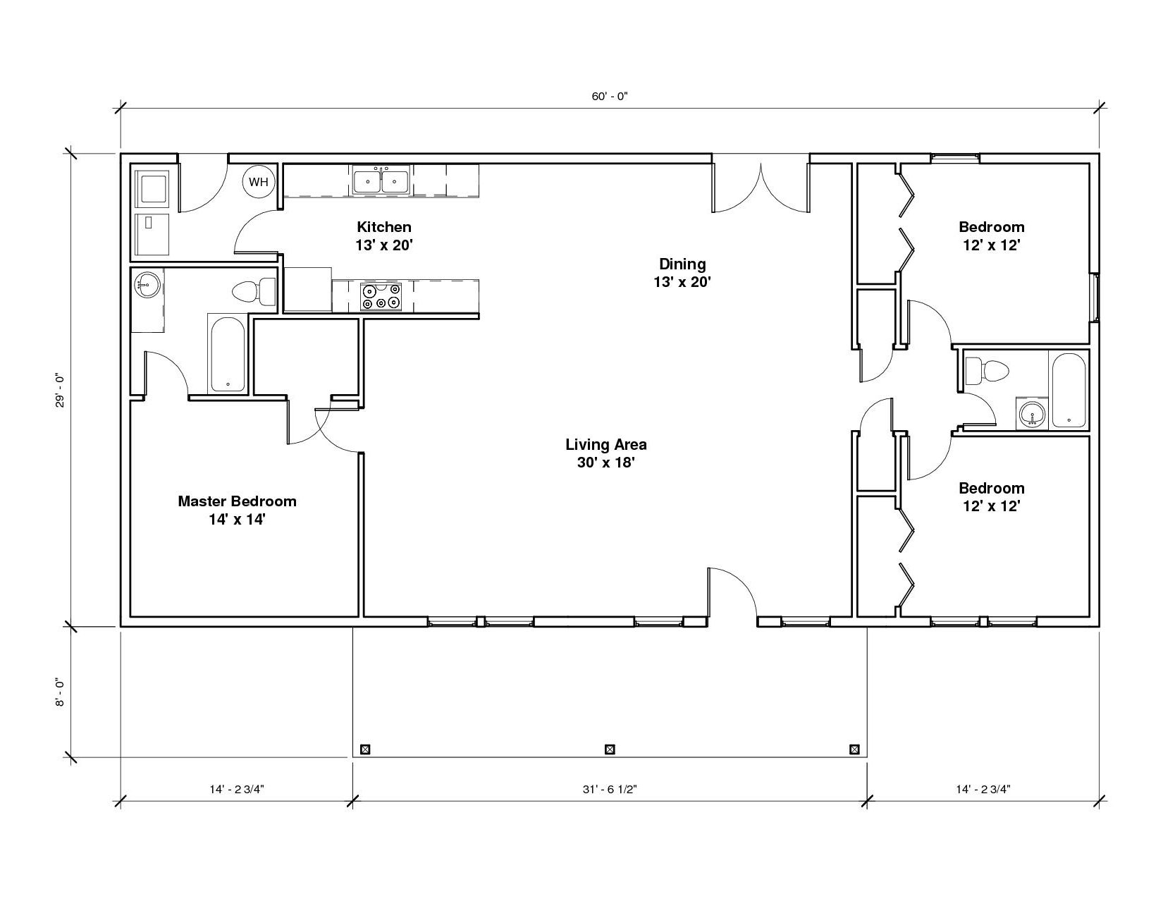 Southridge 2A Floor Plan