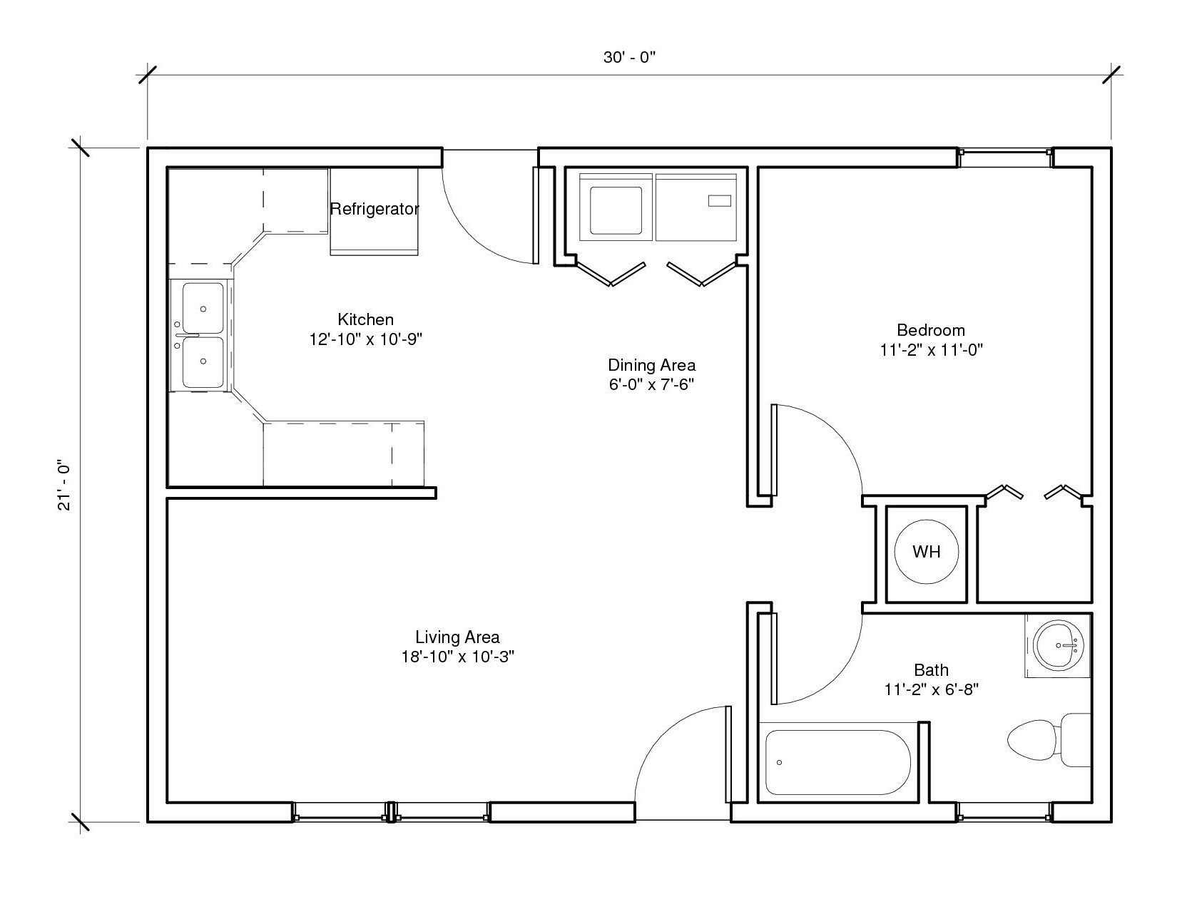 Spring Cottage A Floor Plan