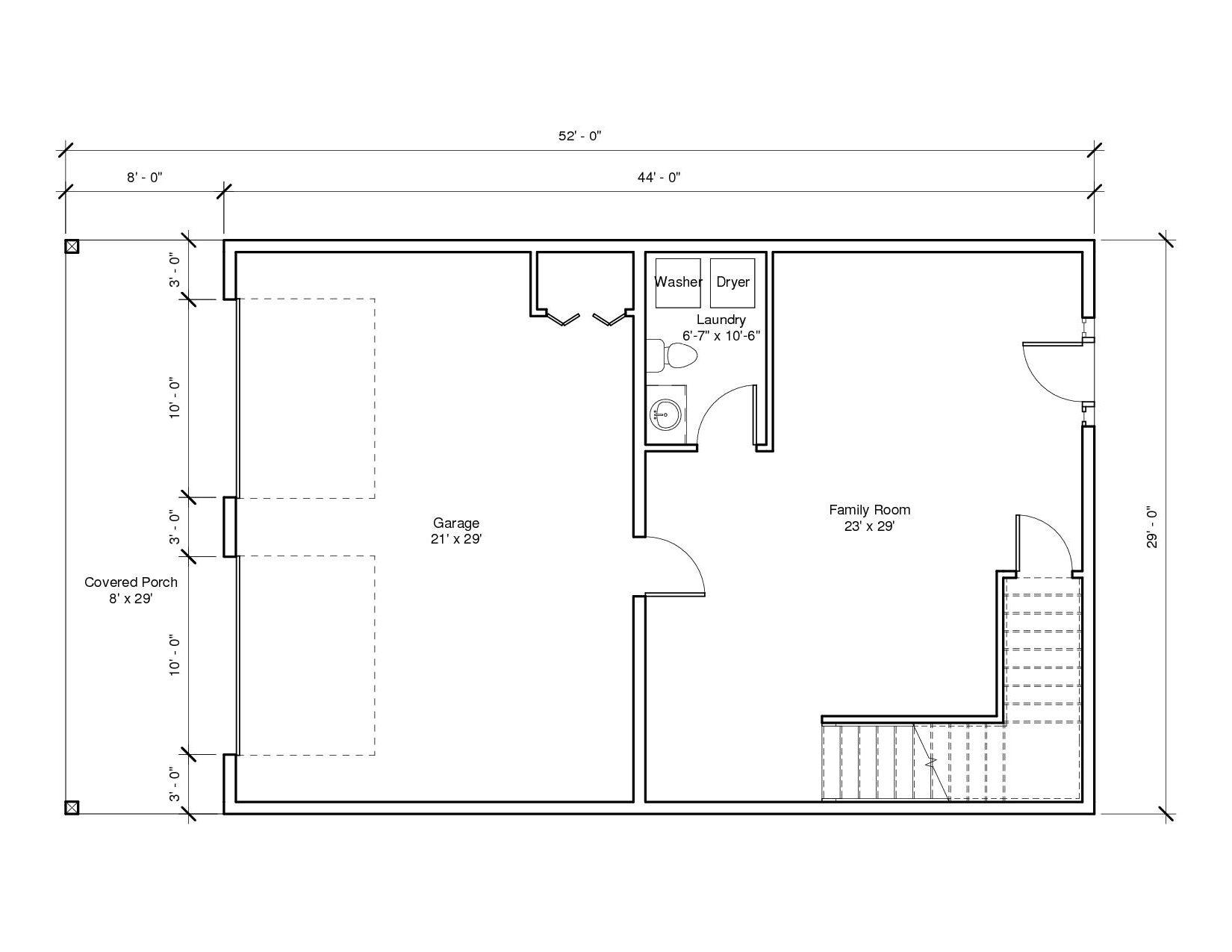 Studio Garage 2A 1st Floor Plan
